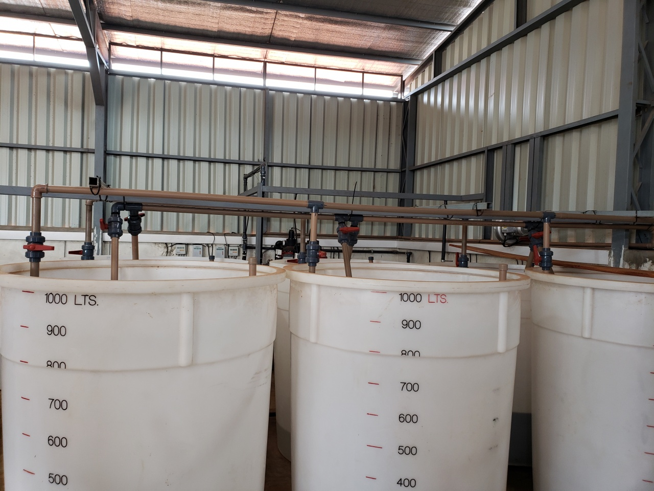 Mixing Tanks for the Greenhouse Nutrition Supply System