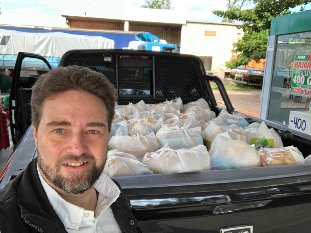 April 2020 AgriTerra food parcel donations in Paraguay